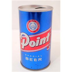 VINTAGE POINT PULL TAB ADVERTISING BEER CAN