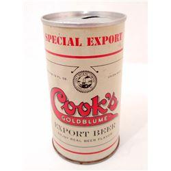 VINTAGE COOKS GOLDBLUME PULL TAB  ADVERTISING BEER CAN