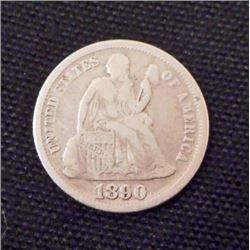 1890-P SEATED LIBERTY DIME