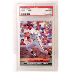 1992 ULTRA WILL CLARK #287 BASEBALL CARD - PSA 10 GEM MT