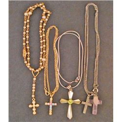 LOT OF 4 ESTATE JEWELRY NECKLACES