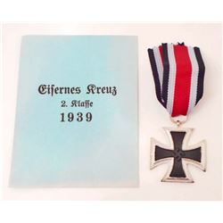 NAZI GERMAN 2ND CLASS IRON CROSS WITH RIBBON AND ENVELOPE