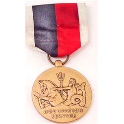 GERMAN OCCUPATION USN MEDAL WITH RIBBON