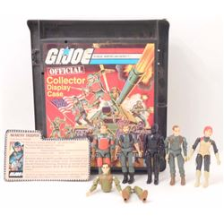 VINTAGE G.I. JOE OFFICIAL COLLECTOR DISPLAY CASE LOT OF 11