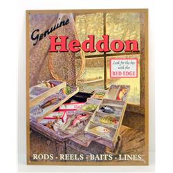 HEDDON FISHING TACKLE ADVERTISING SIGN