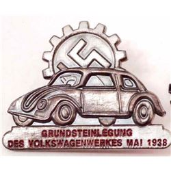 NAZI GERMAN VOLKSWAGEN BADGE