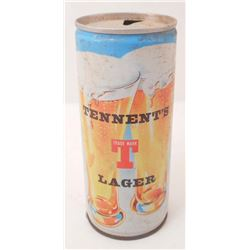VINTAGE TENNENTS LAGER PULL TAB ADVERTISING BEER CAN