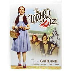 THE WIZARD OF OZ WITH JUDY GARLAND METAL SIGN