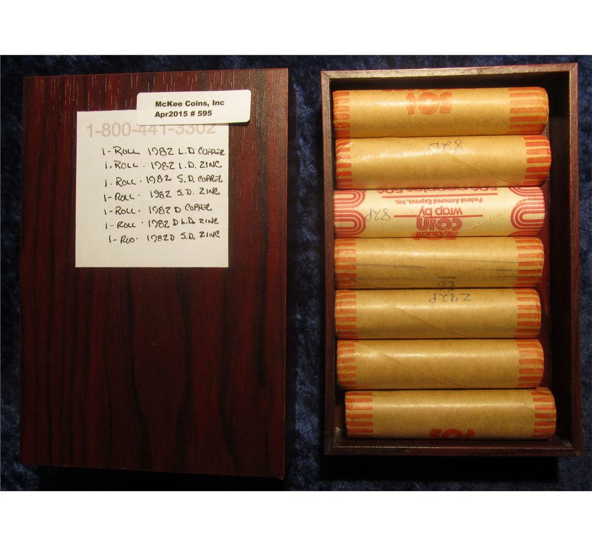 1982 D Zn Large Date BU Roll