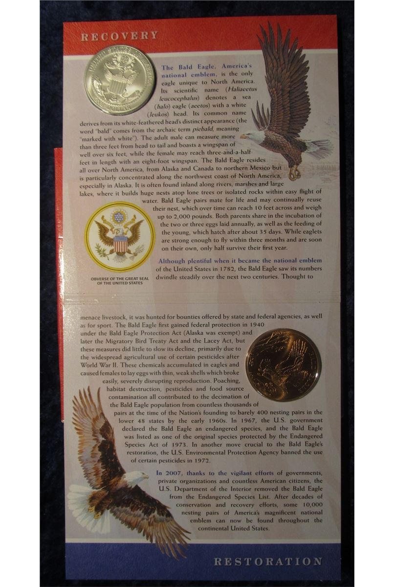 2008 bald eagle coin and medal set
