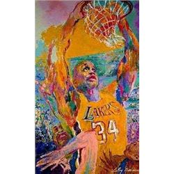 LeRoy Neiman Signed LE Signed Shaquille O'Neal MVP