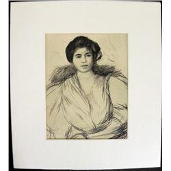 Pierre-Auguste Renoir Portrait Print Engraving