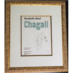 Kunsthalle Basel Chagall Framed Mourlot Poster