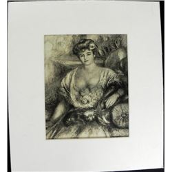 Portrait de Madame Engraving Pierre-Auguste Renoir