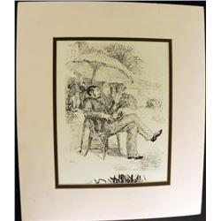 Reclining Engraving Pierre-Auguste Renoir Print