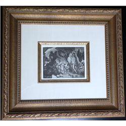 Paul Cezanne Framed 1914 Signed Engraving Japon No. 64