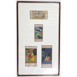 Indian Tiger Hunt Folk Story Panel Painting Framed