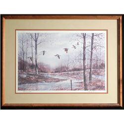 Burmanski Original Framed Watercolor Painting