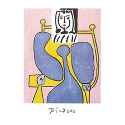 Pablo Picasso Marina Art Print Woman and Blue Rose
