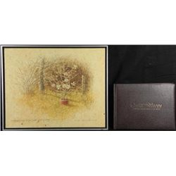 Tom Heflins Just Quiet Raining Signed Painting & Book
