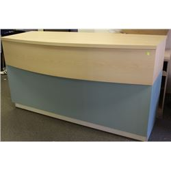 "#7,8 72"" CABINET COUNTER BLUE AND MAPLE"