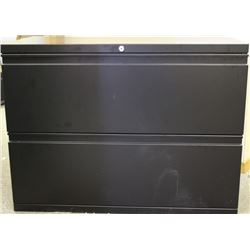 BLACK 2 DRAWER LATERAL FILING CABINET