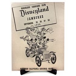 RARE 1958 HORSELESS CARRIAGE CLUB - DISNEYLAND JAMBOREE Event Program