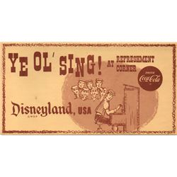 Ye Ol' Sing! at the Coke Refreshment Corner Sing-A-Long Lyric Folder