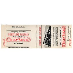 Disneyland RETLAW Special Issue 1975 LILLY BELLE PRESIDENTIAL CAR Passage Ticket