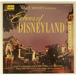 ECHOES OF DISNEYLAND Wurlitzer Organ Music LP by DEE FISHER