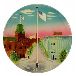 "1955 Disneyland ""3-D"" MAIN STREET, USA Decorative Wall Plate"