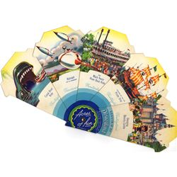 "Disneyland ""ACRES OF FUN"" Souvenir Folding Fan"