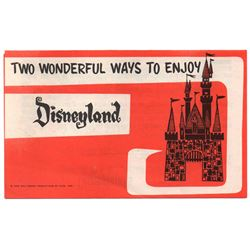 GATE FOLDER - 1962 - TWO WONDERFUL WAYS TO ENJOY DISNEYLAND Information Folder