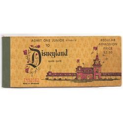 1967 Disneyland Junior's 10 ADVENTURES TICKET BOOK Complete With Admission - EMPLOYEE DISCOUNT BOOK