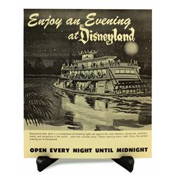 Disneyland ENJOY AN EVENING AT DISNEYLAND Ticket Booth Poster