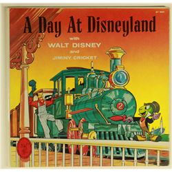 A DAY AT DISNEYLAND Tour Narration LP with Walt Disney & Jiminy Cricket