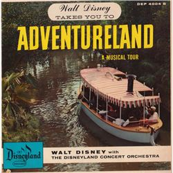 1956 Ultra Rare WALT DISNEY TAKES YOU TO ADVENTURELAND 33rpm Record