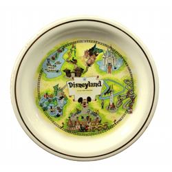 1956 Disneyland Map Decorative Plate