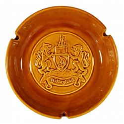 1956 Disneyland Crest Ceramic Smoker's Ashtray - ORANGE