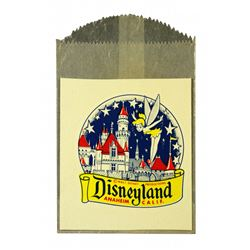 Disneyland Window Decal Castle and Tinkerbell Souvenir - Unused
