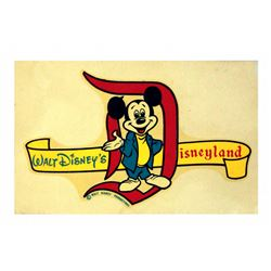 Disneyland Window Decal Mickey Mouse Souvenir - Unused