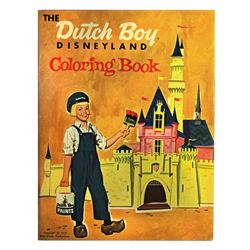 Disneyland DUTCH BOY Coloring Book 1957