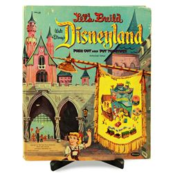 LET'S BUILD DISNEYLAND 1957 Push Out and Put Together Book