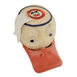 1963 Disneyland Child?s Souvenir DONALD DUCK Squeeker Hat