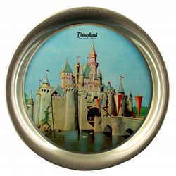 1955 Aluminium Disneyland Castle Souvenir Decorative Tray