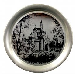 1955 Aluminum Disneyland Castle Souvenir Decorative Tray