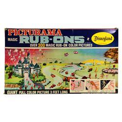 1965 Disneyland PICTURAMA MAGIC RUB-ONS Craft Set