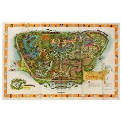 "1958 DISNEYLAND SOUVENIR MAP - The ""1958c"" Version with Original Envelpoe"