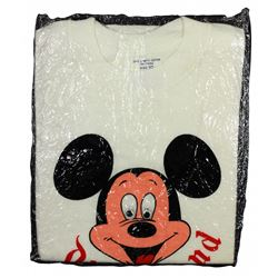 1966 Disneyland MICKEY MOUSE Child's Jiggle-Eyes T-Shirt In Wrapping