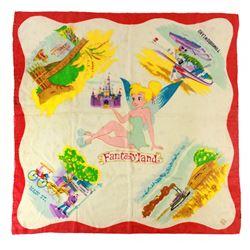 1959 Disneyland TIKNERBELL and the FIVE LANDS SILK SCARF